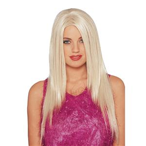 Long Blonde Celebrity Straight Adult Costume Wig