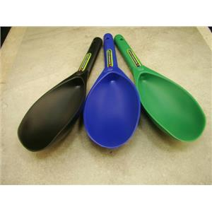 """Lot of 3-12"""" Plastic Scoops-Green-Blue-Black-Gold Metal Detecting Sluice Panning"""