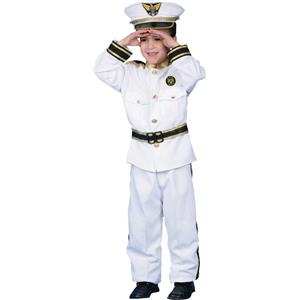 Deluxe Navy Admiral Child Costume Set Size XL 16-18