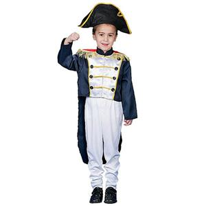 Deluxe Colonial General Child Costume Set Size Small 4-6