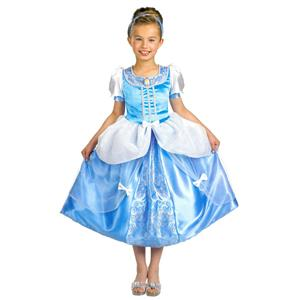 Officially Licensed Disney Princess Cinderella Child Costume Blue Dress 7-8