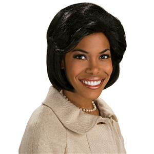 President First Lady Michelle Obama Short Black Bob Wig