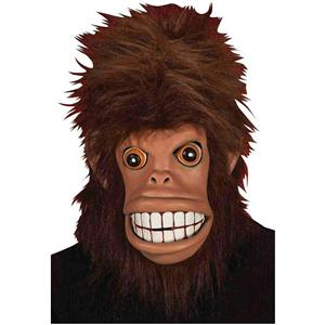 Funky Monkey Adult Latex Mask with Hair