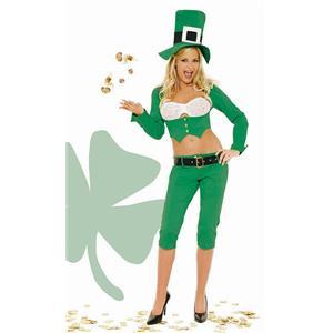 Sassy Lass Sexy Leprechaun Adult Costume St. Patricks Day Large