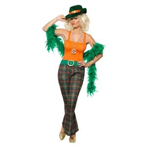Pimpette Adult Lady Pimp 70's Disco Womens Costume Size Medium 10-12