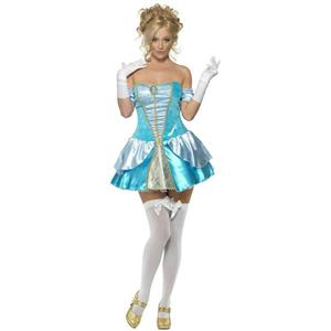 Fever Blue Dress Princess Cinders Adult Costume Size Medium Sexy Cinderella