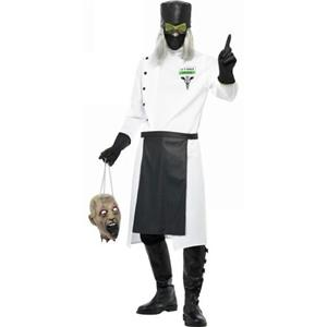 Men's Hell Asylum Dr. D Ranged Adult Deranged Doctor Costume Size Medium