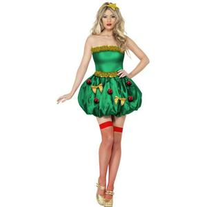 Women's Fever Festive Christmas Tree Sexy Costume Dress Size Medium