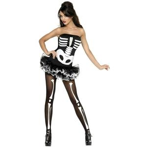 Fever Skeleton Tutu Costume Dress Adult Size Large