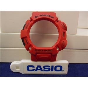 Casio Watch Parts G-9000 Mx-4 Bezel / Red W/Black Push Pads. G-Shock