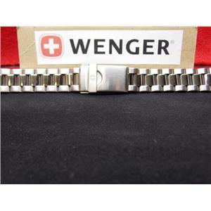 Wenger Watch Band Bracelet Model: 70109, 70119, 70129.19mm All Steel Silver Tone