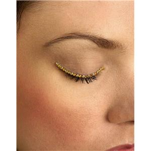 Gold Sparkle Eyelid Jewels Decoration For Eyes
