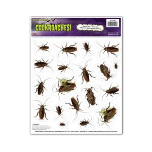 Peel 'N Place Cockroaches Bugs Nasty Creepy Crawlies Stickers