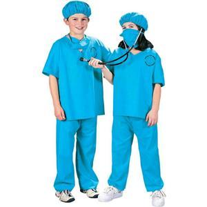 Kids Doctor, Doctor Child Unisex Scrubs Costume Size Medium 8-10