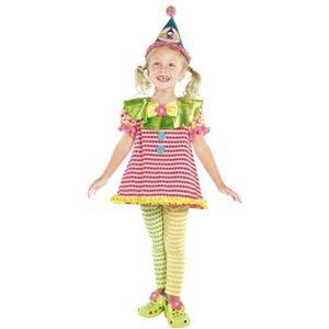Clown Cutie Child Girls Costume Size Medium 7-9