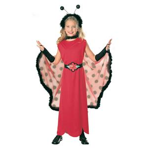 Ladybug Child Costume Size Medium 8-10