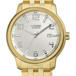 Citizen BI0992-51A. Chronograph.White Dial. Big Numbers.Gold-Tone Stainless Bracelet.5M Resist.