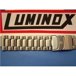 Luminox WatchBand 3150;3152;3182 ColorMark Steel SilverTn Bracelet 23mm