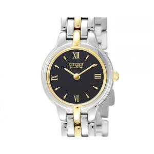 Citizen Women's EW9334 -52E. Eco-Drive. Silhouette Two-Tone Stainless Steel Bracelet Watch.