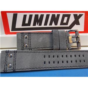 Luminox Watchband Series 1880/1890 Dk Gray Leather w/Gun Metal Buckle,26mm Strap