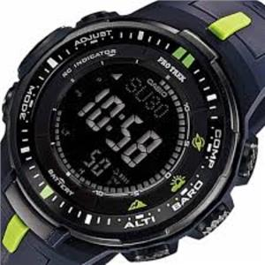 Casio Men's PRW-3000-2CR. Baby G. Tough Solar Power. Multi-Function. Atomic. Small Triple Sensor. Bl
