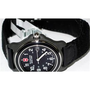 Victorinox Swiss Army Ladies Original Series 24379. Military Time. Black Dial. Black Nylon Strap. 10