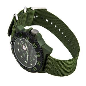 Luminox Men's 3042. OD Military Series Watch. Green Nylon Strap, Black Dial w/ Luminous Night Vision
