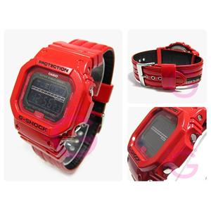 Casio G-Shock GLS-5600 L-4. Red Leather Strap. Two Stopwatches. Four Alarms. World Time.