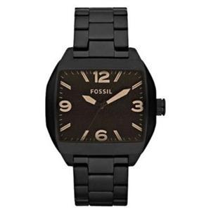 Fossil Mens JR1360. Roland Watch. Stainless Steel. Black Bracelet.