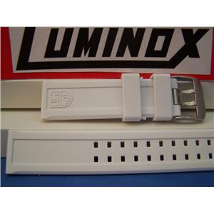 Luminox Watch Band ColorMark White Navy Seals 3050. 23mm Rubber Strap