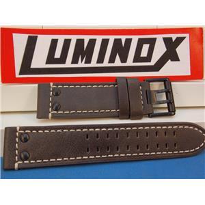 Luminox Watch Band Series 1820/1840,Brown Leather w/White Stitch Model 1837,23mm