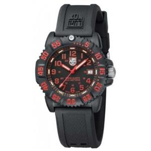 Luminox L7066. Womens Colormark Red. Resin Watch Black Rubber Strap Black Dial