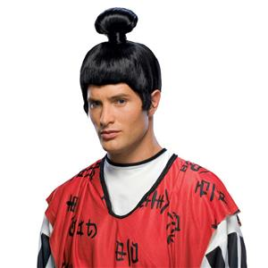 Japanese Asian Sumo Man Samurai Wig