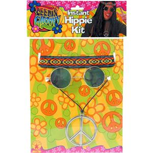 Male Feeling Groovy Hippie Accessory Kit Peace Lennon Shades