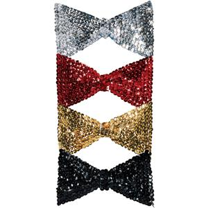 Rubies Silver White Sequin Bowtie