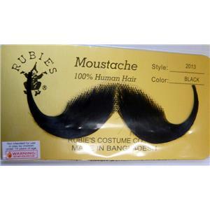 Black Human Hair Handlebar Moustache 2013