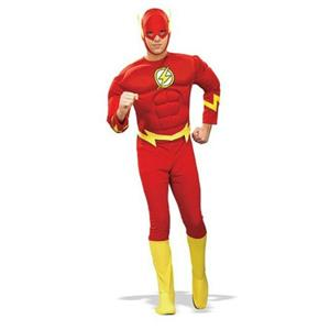 The Flash Muscle Chest Deluxe Adult Costume Size Large