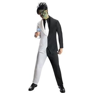Men's Dc Super Villains Adult Two-Face Costume Size XL