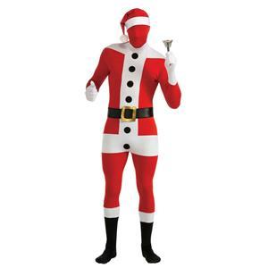 Santa Claus 2nd Skin Suit Full Stretch Bodysuit Adult Costume Size Medium