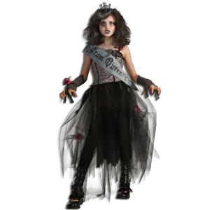 Gothic Prom Queen Child Girls Costume Size Large