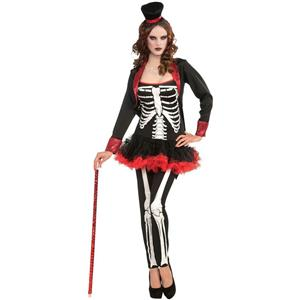 Ms. Bone Jangles Adult Sexy Skeleton Costume