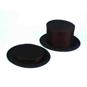 Black Collapsible Top Hat Adult XL