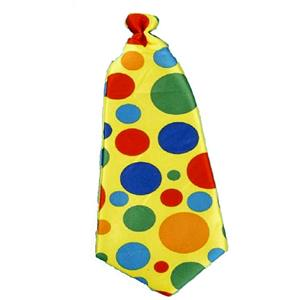 Jumbo Clown Polka Dot Foam Long Tie
