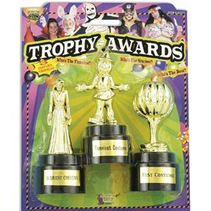 Plastic Halloween Costume Contest Trophy Awards 3 Set