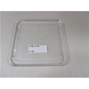 """10 5/8""""  x 10 1/4"""" MICROWAVE PLATE n 02 USED PART ASSEMBLY FREE SHIPPING"""