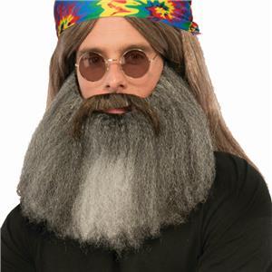 Hippie Moustache 'N' Beard Set