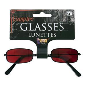 Red Vampire Gothic Costume Glasses