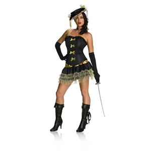Women's Sexy Naughty Musketeer Adult Costume Large 12-14