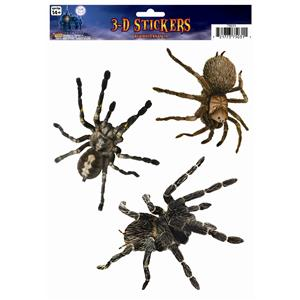 3D Spider Window Stickers- 3 Spiders