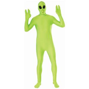 Green Alien Disappearing Man Suit Adult Costume Size Standard